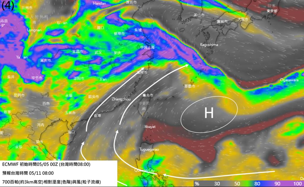 2021/05/05一週高山天氣分析: 氣象焦點動態   高山氣象